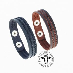 Genuine Leather Bracelets Two Pack Country Punk